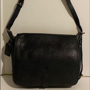 Ralph Lauren Black unsex leather messenger bag